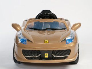 CHILDRENS RIDE ON Ferrari 458 Italia Style Kids 12V Battery Power Wheels Ride On Car  RC Remote COLOR GOLD, RED OR YELLOW SENT AT RANDOM