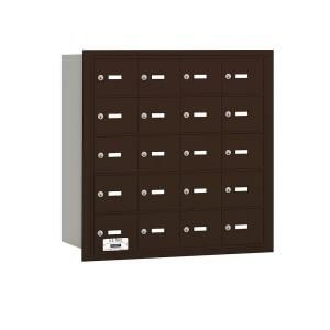 Salsbury Industries 3600 Series Bronze Private Rear Loading 4B Plus Horizontal Mailbox with 20A Doors 3620ZRP