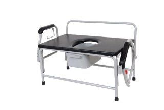 Drive Medical Extra Large Super Heavy Duty Bariatric Drop Arm Commode Health & Personal Care