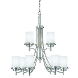 Sea Gull Lighting Winnetka 9 Light Brushed Nickel Chandelier 31662 962