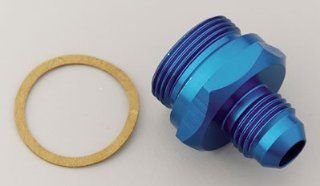 Earl's 991945 Blue Anodized Aluminum  6AN Male To 12mm by 1.25 Male Thread Carburetor/ Fuel Pump Adapter Automotive