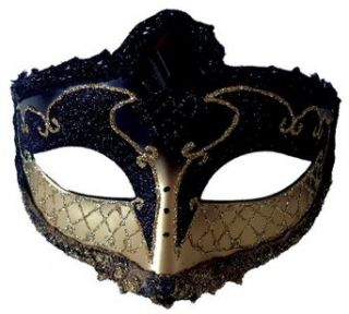 Black Mardi Gras Eye Mask Mask Clothing