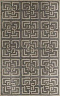 Safavieh PRE154G Precious Collection Area Rug, 8 by 10 Feet, Silver   Area Rugs