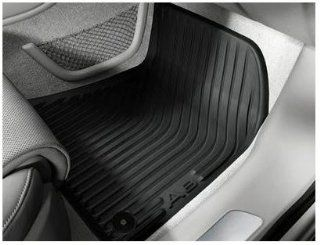 Genuine OEM Audi A8 Front Rubber Floor Mats  GRAPHITE GRAY  (For A8/A8L 2011+ NWB) Automotive