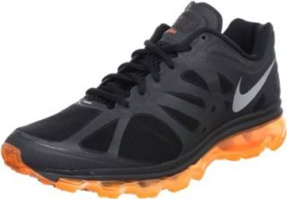 Mens Nike Air Max+ 2012 Running Shoes Black / Metallic Silver / Total Orange 487982 019 Size 9.5 Shoes