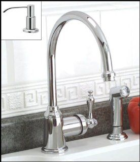 Chrome Single Handle Kitchen Faucet with Sprayer and Soap Pump   Touch On Kitchen Sink Faucets