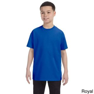 Gildan Gildan Youth Heavy Cotton T shirt Blue Size L (14 16)