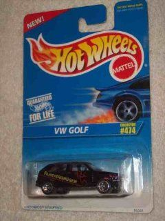 #474 VW Golf 5 Spoke Wheels Fahrvergnugen Tampo Collectible Collector Car Mattel Hot Wheels Toys & Games