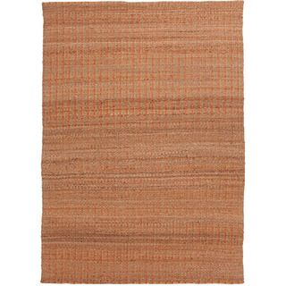 Handmade Naturals Solid Pattern Red/ Orange Rug (26 X 4)