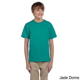 Gildan Gildan Youth Ultra Cotton 6 ounce T shirt Green Size XS (4 6)