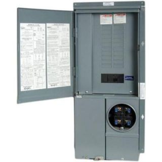 Square D by Schneider Electric Homeline 200 Amp 20 Space 40 Circuit Semi Flush Mount Main Breaker CSED SC2040M200F