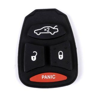 4/3+PANIC KEYLESS REMOTE KEY BUTTON PAD REPLACEMENT FOR DODGE JEEP 2007 2009 Chrysler Aspen, 2005 2007 Chrysler 300 FOB  Vehicle Keyless Entry
