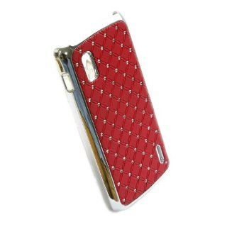 Rhinestone Bling Chrome Plated Case Cover for LG Google Nexus 4 Smart Phone E960 Red + 1 gift Cell Phones & Accessories