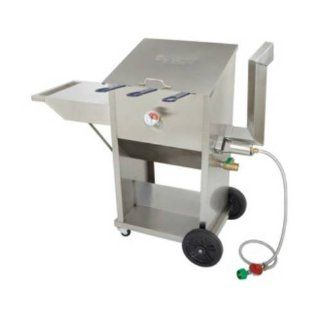 Bayou Classic 700 709 9 Gallon Stainless Steel Self Contained Deep Fryer Kitchen & Dining