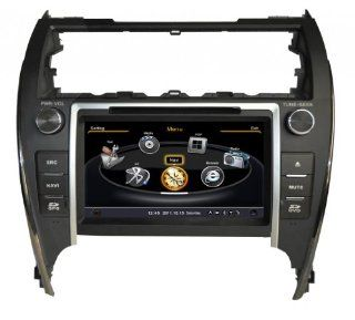 SDB Car DVD Player With GPS Navigation(free Map) For Toyota Camry 2012 USA Version 8 inch HD Screen Audio Video Stereo System with Bluetooth Hands Free, USB/SD, AUX Input, Radio(AM/FM), TV, Plug & Play Installation  In Dash Vehicle Gps Units  Car Ele