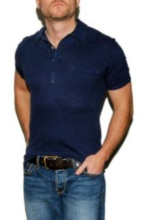 Polo Ralph Lauren Mens Linen Short Sleeve Shirt Blue Navy Small at  Men�s Clothing store