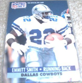 1991 Pro Set Emmitt Smith # 485 NFL Football Trading Card at 's Sports Collectibles Store