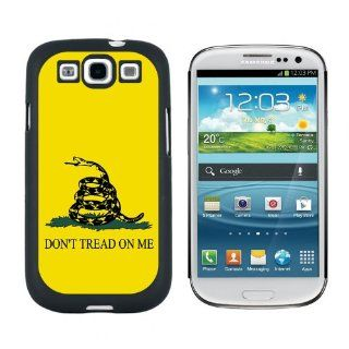 Gadsden Flag Don't Tread On Me   Snap On Hard Protective Case for Samsung Galaxy S3   Black Cell Phones & Accessories