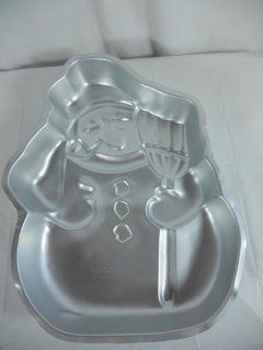 Wilton Snowman with Broom and Pipe Christmas Holiday Cake Pan (502 1646, 1980)   Novelty Cake Pans