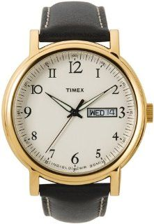Timex Men's T2M488 Classic Gold Tone Leather Dress Watch Timex Watches