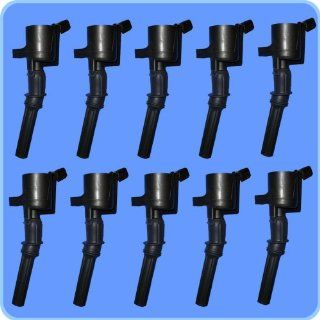 New Ignition Coil Set (10) 1997 1998 1999 FORD ECONOLINE SUPER DUTY V10 6.8L GDG508 Automotive