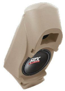"MTX Thunderform 10"" Loaded & Amplified Custom Subwoofer Enclosure for Chevy & GMC Suburban, Yukon, Full Size Blazer, Tahoe, Reg & Ext Cab Trucks (TAN)"