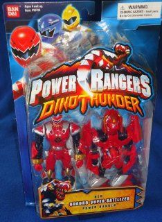 Power Rangers Dino Thunder Red QUADRO SUPER BATTLIZED Power Ranger Figure Toys & Games