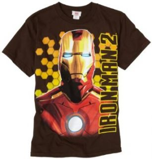 Marvel Boys 8 20  Iron Man Bust Shot T Shirt,Brown,Small Clothing