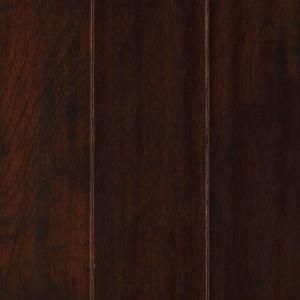 Mohawk Chocolate Hickory 3/8 in. x 5 in. Wide x Random Length Soft Scraped Engineered Hardwood Flooring (23.5 sq. ft. / case) HEHS5 11