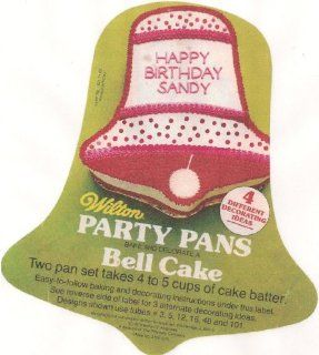 Wilton Cake Pan Bell/Frog/Face   2 Pan Set (502 2057, 1971) Novelty Cake Pans Kitchen & Dining