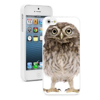 Apple iPhone 5 5S White 5W503 Hard Back Case Cover Color Cute Fluffy Baby Owl Cell Phones & Accessories