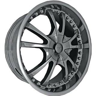 MST 520 22 Black Chrome Wheel / Rim 6x4.5 with a 15mm Offset and a 83.06 Hub Bore. Partnumber 520 22968 Automotive
