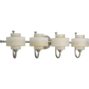 Progress Lighting Ashbury Collection Silver Ridge 4 light Vanity Fixture P2888 134WB