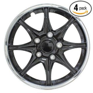 "Pilot Automotive WH522 15C B Black and Chrome 15"" Wheel Cover, (Set of 4) Automotive"