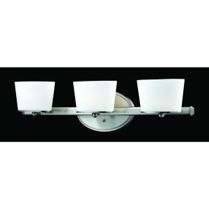 Filament Design Lawrence 3 Light Brushed Nickel Halogen Bath Vanity DISCONTINUED CLI JB1906 3V