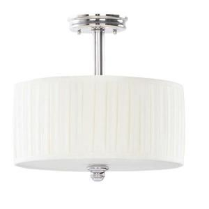 Hampton Bay Nadia Collection 3 Light Chrome Semi Flushmount 21346 019