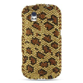 Htc Amaze 4g / Ruby Full Diamond Case Gold Leopard Cell Phones & Accessories
