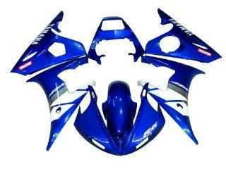 Bodywork Fairing Kit Fit For Yamaha YZF600 R6 2003 2004 (Not YZF600R Thundercat) Injection Mold Technology ABS Plastic (F) Free Gifts Heat Shield, Windscreen and Tank Pad Automotive