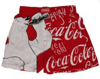 Coca Cola Classic Polar Bear Drinking Coke Boxer Shorts (Underwear) (S  Small) Clothing