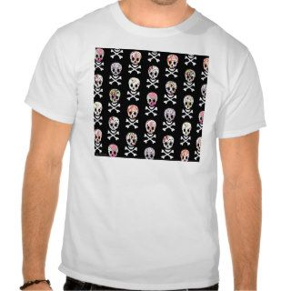 Mexican Day of Dead Skull Crossbones Shirts