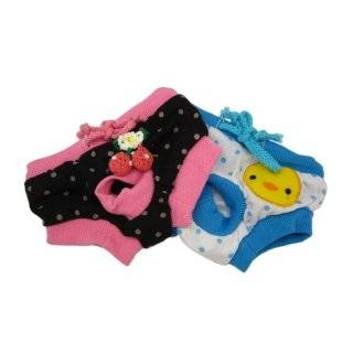 Alfie Pet Apparel   Zoe Diaper Dog Sanitary Pantie 2 Piece Set   Colors Blue and Black, Size M (for Girl Dogs)  Pet Dresses