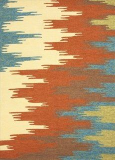 Jaipur Colours Flame Stitched RUG101270 2 in. W x 3 in. L Abstract Pattern Indoor  Outdoor Rug in Rust   Area Rugs
