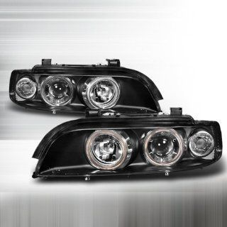 97 98 99 00 01 02 BMW E39 5 Series 528i 540i M5 Halo Projector Headlights   Black (Pair) Automotive