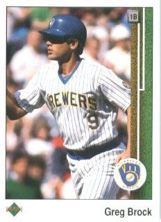 1989 Upper Deck # 543 Greg Brock Milwaukee Brewers   MLB Baseball Trading Card Sports Collectibles
