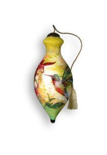 "4"" Ne'Qwa ""Hummingbird"" Hand Painted Mouth Blown Glass Christmas Ornament #543   Decorative Hanging Ornaments"