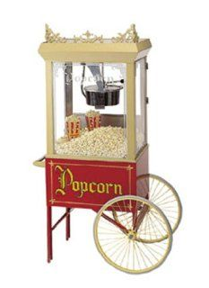 Gold Medal 2015 Popcorn Wagon w/ 2 Spoke Wheels, Red, 20x28 in, Each   Cookware