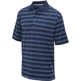 TOMMY ARMOUR Mens Striped Short Sleeve Polo   Size Xl, Dress Blue
