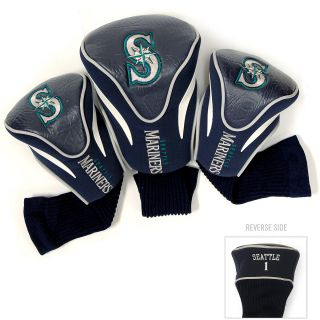 Team Golf MLB Seattle Mariners 3 Pack Contour Club Head Cover (637556974945)