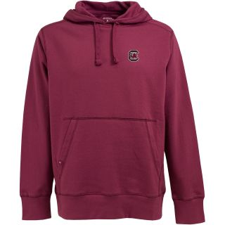 Antigua Mens South Carolina Gamecocks Signature Hooded Pullover Sweatshirt