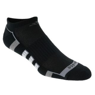 adidas Mens Climacool II 2 Pack Low Cut Socks   Size Large, Black/grey